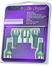 McGard 28018SU Standard - Tornillos antirrobo para ruedas (base esférica, M14 x 1,50, longitud del vástago 26,7 mm, SW17)