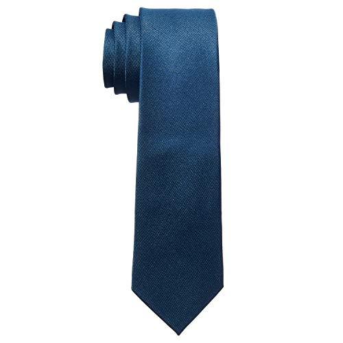 MASADA Cravatta Uomo accuratamente realizzata e rifinita a mano 6 cm di larghezza - Navy Blu marino