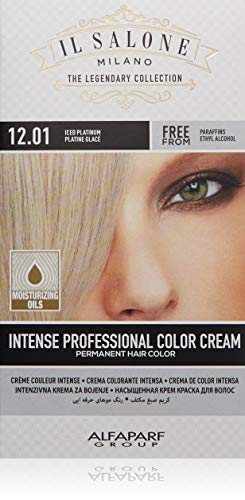 Il Salone Milano Permanent Hair Color Cream - 12.01 Iced Platinum Hair Dye - Professional Salon - Premium Quality - 100% Gray Coverage - Paraben Free - Ethyl Alcohol Free - Moisturizing Oils