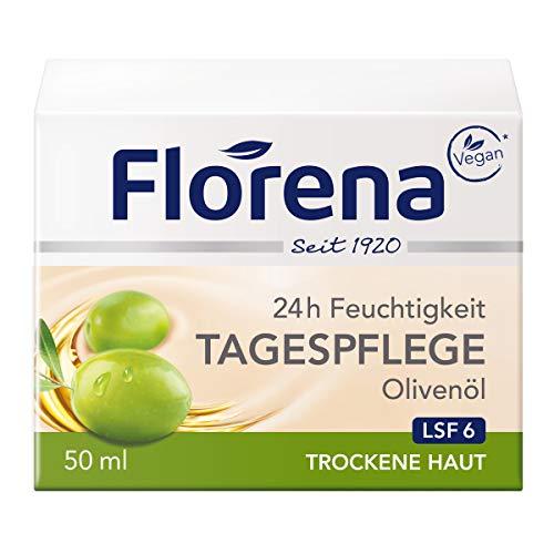Florena Tagespflege mit Olivenöl Gesichtscreme, 1er Pack(1 x 50ml)