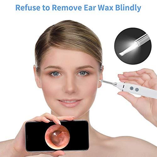 Endoscopio de oreja,otoscopio Inalámbrico WiFi Inspección de boroscopio Cámara,720P HD 2.0 MP,Herramienta de eliminación de cera del oído,for para iPhone/iPad, teléfono AndroidiPhone/iPad