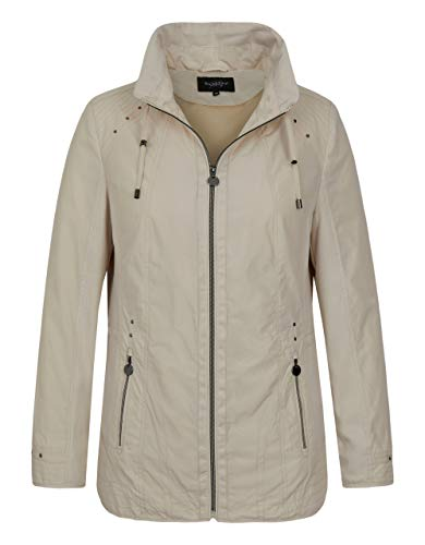 Bexleys Woman by Adler Mode Damen Jacke mit Materialmix mit Shape-Memory-Ware beige 38