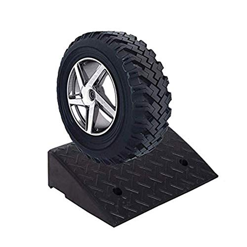 Baiying Rubber Ramps, Stable Withstand Voltage Curb Ramp Threshold Ramp Triangular Road Along the Ramp Deceleration Ramp Pad for Car Motorcycle Wheelchair ( Color : Black , Size : 50X50X19CM )