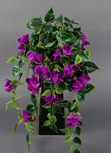 Seidenblumen Roß Bougainvillearanke 65cm lila ZF künstliche Bougainvillea Ranke Blumen Pflanzen Kunstpflanzen