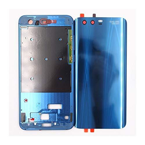 CHEN Protector de Pantalla Incorporado Impermeable Cubierta Batería Atrás Reparación Vidrio Batería De Vidrio Templado Ajuste Fit For Huawei Honor 9 Carcasa Vivienda con Botón Volumen Potencia