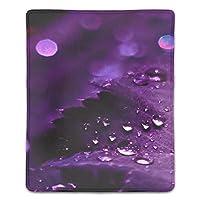マウスパッド 抗菌 疲労低減 水雨紫花びら葉自然 レーザー&光学式マウス対応パッド