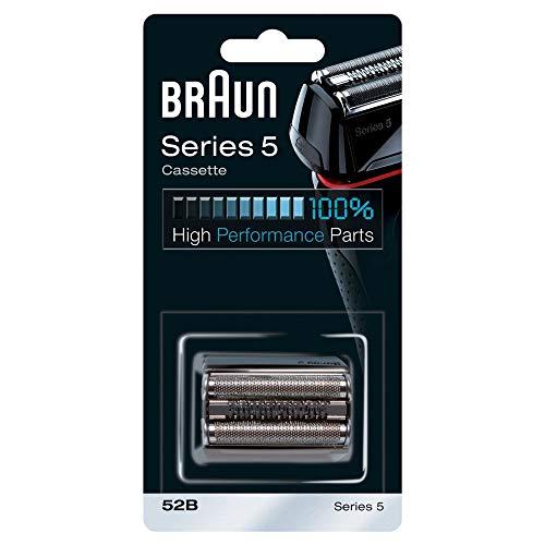 Braun Series 5 52B Elektrischer Rasierer Scherkopfkassette, kompatibel mit Series 5 Rasierern (alte Generation), schwarz