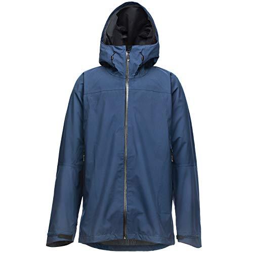 33,000ft Chaqueta de lluvia para hombre, impermeable, cortavientos, transpirable, softshell, con capucha, para senderismo, camping azul XXL