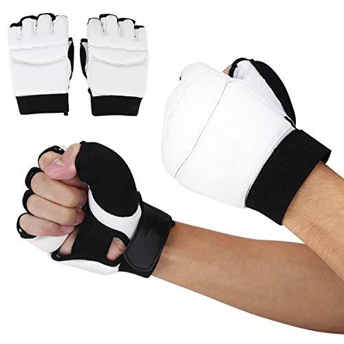 Fsskgx Taekwondo Handschuhe, Halbfinger Sparring Karate Boxhandschuhe Handschutzhülle für Erwachsene/Kinder