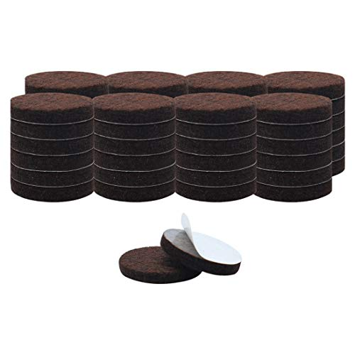 uxcell 50pcs Furniture Pads Round 1 1/2