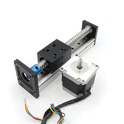 RATTMMOTOR 100 mm de longitud de recorrido lineal CNC, mesa de accionamiento lineal CBX1605, husillo circular con motor paso a paso NEMA23.