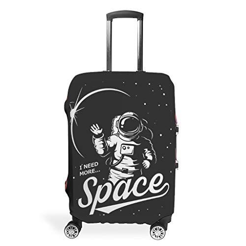 NASA I Need More Space - Protector de maleta (lavable, para maleta con ruedas, 18 – 32 pulgadas), blanco (Blanco) - Xuanwuyi5462