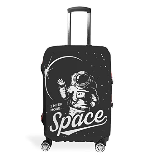 NASA I Need More Space Travel Luggage Protector Durable Anti-Scratch Fits 18-32 Inch for Wheeled Suitcase Over Softsided White 30-32in