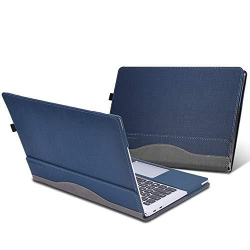 Veker Lenovo Yoga C930 / 920 / Yoga 910 Case, PU Leather Folio Stand Protective Cover for Lenovo Yoga 7 Pro / 6 Pro/Yoga 5 Pro 13.9 Inch 2-in-1 Laptop, Gray