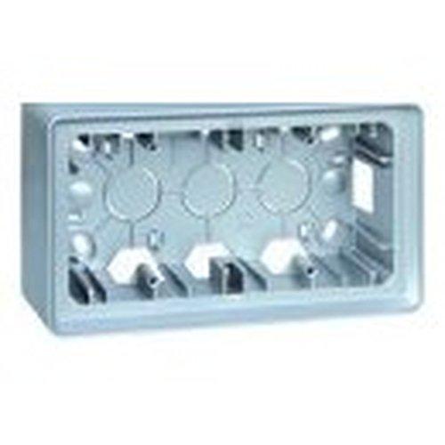Simon 8200760-093 - Caja Superficie 2 Elem. Aluminio Frio