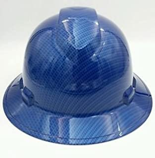 Wet Works Imaging Customized Pyramex Full Brim Candy Blue Carbon Fiber Hat With Ratcheting Suspension