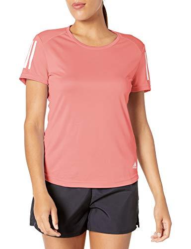 adidas Damen Own The Run Tee, Damen, Hemd, Own The Run Tee Women, Glory Pink, X-Small