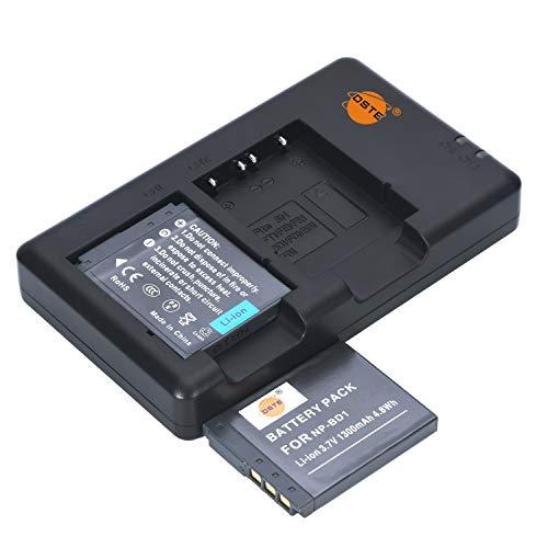 NP-BD1 NP-FD1 - Batería recargable y cargador dual compatible con Sony Cyber-Shot DSC-G3, DSC-T2, DSC-T70, DSC-T75, DSC-T77, DSC-T90, DSC-T200, DSC-T300, DSC-T700, DSC-T900, etc.
