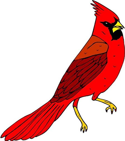 Vibrant Red Cardinal Bird Etched Vinyl Stained Glass Film Static Cling Window Decal