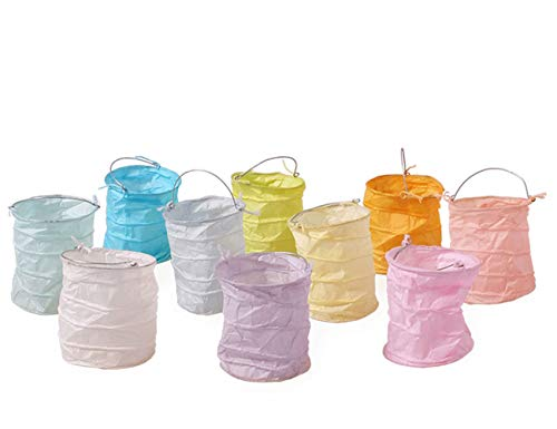 kadoh Papierlampion (S) Höhe 6 cm Ø 5,5 cm Set/10 Rainbow-Pastell NEUE FARBEN