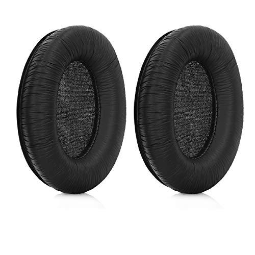 kwmobile 2X Ohrpolster kompatibel mit Sennheiser HD201 / HD180 / HD201S Kopfhörer - Kunstleder Ersatz Ohr Polster für Overear Headphones