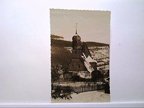 AK Oberauroff/Idstein im Taunus, Liebfrauenkirche, Panorama, Winterlandschaft, Echt Foto, Ungelaufen.