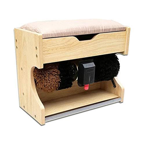 ZXNRTU Máquina de Cepillo de Zapatos, Polador de Zapatos Máquina automática del Cepillo de inducción del hogar, Banco de Zapatos, Caja de Almacenamiento Máquina de Pulido de Zapatos multifunción para