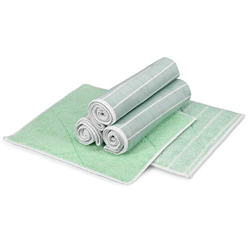 Navaris Putztücher Tücher Lappen mit Bambusfaser - 5-teiliges Set mit Bambus - für Fenster Küche Bad Spiegel Geschirr - waschbar