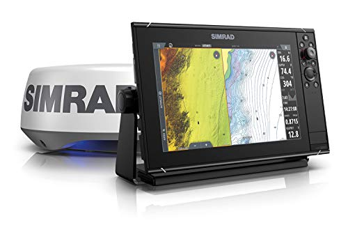 Simrad NSS12 Evo3S - 12-inch Multifunction Fish Finder Chartplotter with HALO20+ Radar, Preloaded C-MAP US Enhanced Charts
