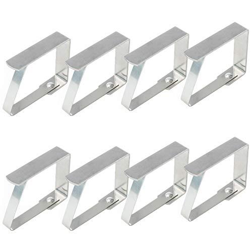 TRIXES 8er Pack Tischdeckenclips aus Edelstahl - Verstellbare Metall-Clips - Perfekt für den Festtagstisch Buffets Partys BBQs Gartenfeste - geeignet für Haus Garten