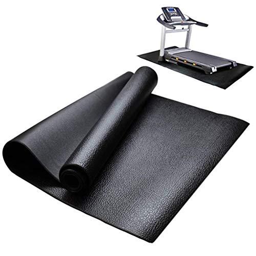 MNBVH Esterilla Protectora de Alta Densidad para Aparatos de Fitness, Cinta de Correr, Banco de Pesas, Máquinas de Gimnasio, Antideslizante, Reduce el Ruído, Negro, Grande