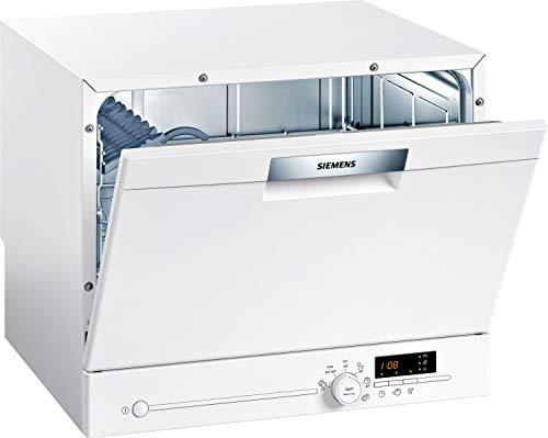 Siemens SK26E222EU iQ300 - Lavavajillas compacto independiente/F / 61 kWh / 6 MGD/VarioSpeed/Cristal 40° programa/aquaStop.