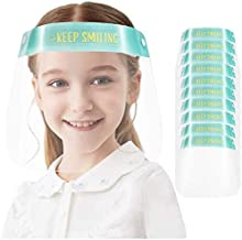 KEYLLLNG Kids Anti-fog Face Shields Transparent Breathable Full Face Protective Visor with Adjustable Elastic Band Face Bandanas Transparent Shields Cartoon Printing Safety All-Round Protection
