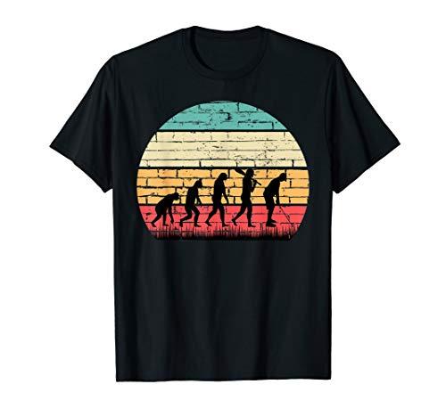 Retro Golf Evolution für Golfer & Golfspieler T-Shirt