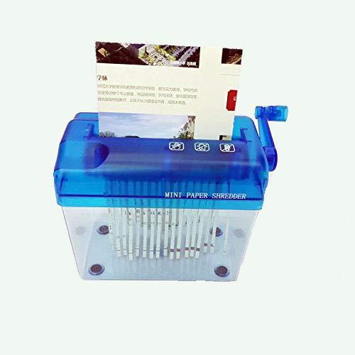 Manual Trituradora de Papel Portatil Mini Destructora Desktop para Uso en el Hogar o en Pequeñas Oficinas