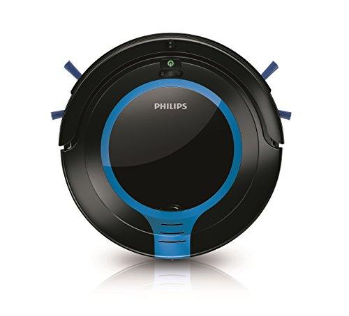 Philips FC8700/01 Robot Aspirador con diseño Compacto 6 cm, Sistema de Limpieza de 2 Fases, 55.7 Decibelios, Negro y Azul