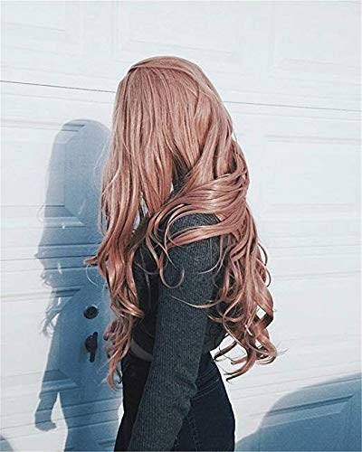 Sylvia Max 82% OFF 24' Dark Pink Indefinitely Body Wave Si with Front Lace Wigs Synthetic
