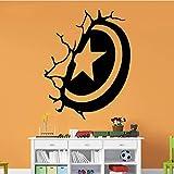 zqyjhkou Escudo Pegatinas de Pared Muebles para el hogar Etiqueta de la Pared Decorativa Decoración del hogar Sala de Estar Dormitorio DIY Etiqueta de Arte de la Pared M30x38cm