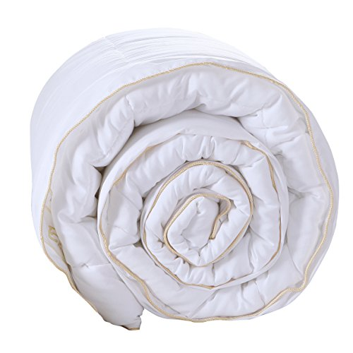 Exclusivo Mezcla Luxury King Size White Down Alternative Quilted Comforter Duvet Insert with Corner Tabs/Loops for All Seasons - Soft, Hypollergenic and Lightweight