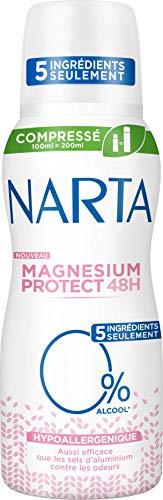 Narta Magnesium Protect Deodorant komprimiert, hypoallergen, 5 Zutaten, 100 ml, 1 Stück