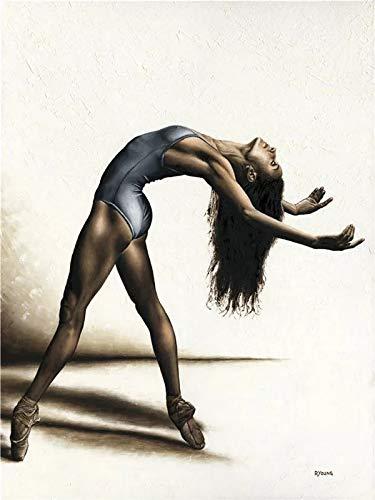 JHGJHK Yoga, Gimnasia, Ballet, Danza, Pintura, decoración del hogar, Estilo nórdico, Mural, Cartel, Europeo, Retro, Simple, Sala de Estar, decoración, Pintura (Imagen 5)