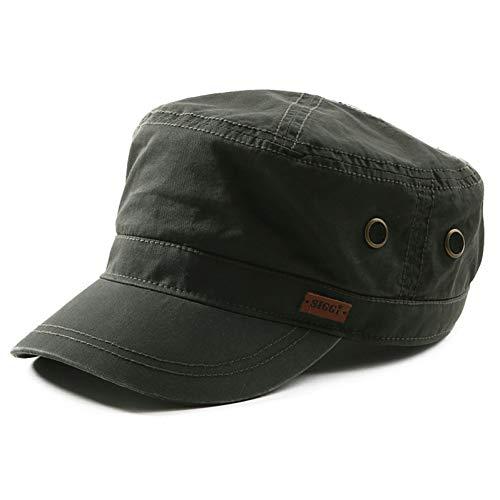 JJJRMP Verano Primavera Hombres Sombrero Militar Algodón Sólido Ajustable Snapback Flat Army Caps Gorra Militar Alemán Caps para Hombre
