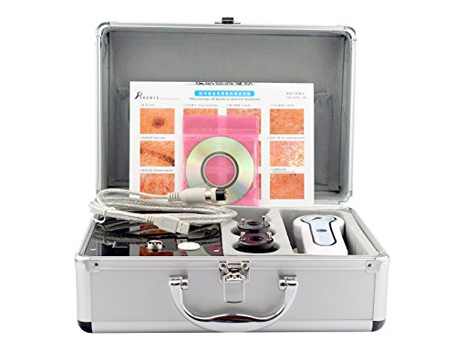 Aluminium box Skin and Hair Anaylizer Detector Hair Analyzer connecting to TV Monitor Magnified 50 Times On Skin 200 Times On Scalp Bacterial Infection Hair Follicle Elitzia 801BA