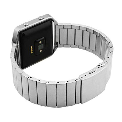 ZXF Bracelet de Montre Acier Inoxydable Bracelet Boucle Maille Bracelet Bande avec Aimant De Verrouillage for Fitbit Blaze (Color : Silver)