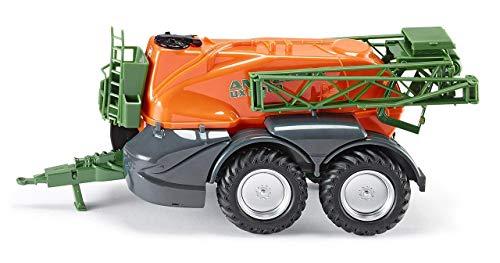 SIKU 2276, Amazone UX 11200 Anhänger-Feldspritze, 1:32, Metall/Kunststoff, Orange/Grün, Abklappbare Spritzenarme