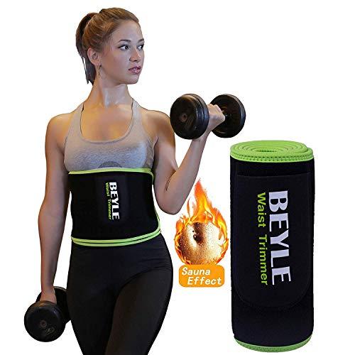 Beyle シェイプアップベルト 男女兼用 発汗 お腹引き締め 加圧ベルト 脂肪燃焼 ダイエットベルト 腰痛 フリ...