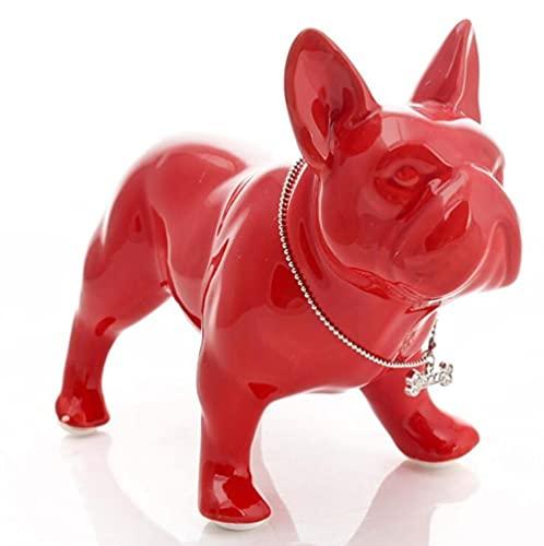CHOUDOUFU Statue Sculpture Giftcute Ceramic French Bulldog Dog Statue Home Decor Crafts Room Decoration Dog Ornament Porcelain Animal Figurines Decorations