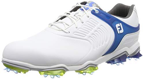 FootJoy Tour S, Zapatillas de Golf para Hombre, Blanco (Blanco/Azul 55301), 42 EU