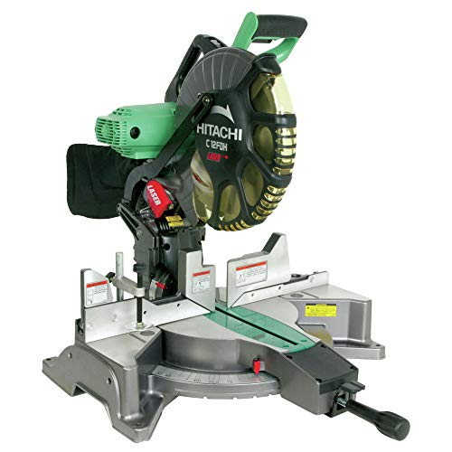 Hitachi C12FDH 15 Amp 12-Inch Dual Bevel Miter Saw with Laser (Discontinued by Manufacturer)