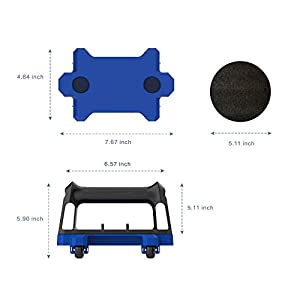 Ab Roller for Abs Workout (Set of 2), Ab Roller Wheel Fitness Equipment for Core Workout, Exercise Roller Kit and Ab Wheel Roller kit Home Gym, Ab Workout Equipment for Abdominal Exercise (Blue)